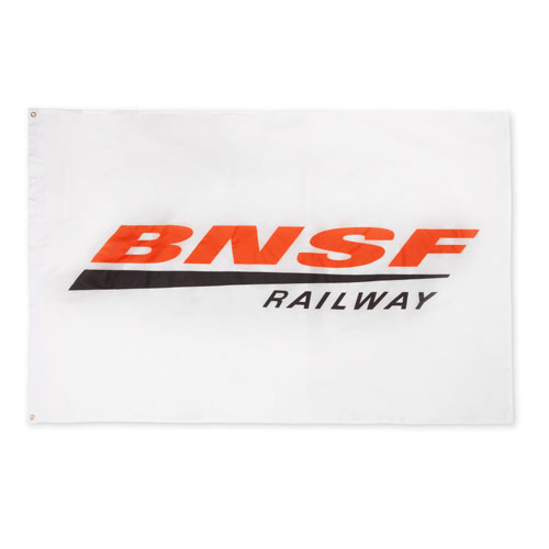 BNSF Double-Sided White Flag