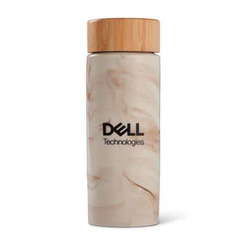 Dell Technologies Celeste Bamboo and Ceramic Bottle, 10 oz.