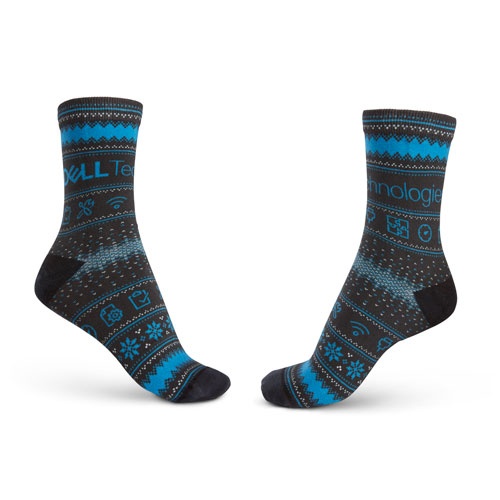 """Dell Tech """"Ugly Sweater"""" Holiday Socks"""