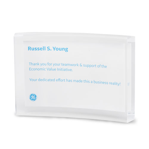 Curved Rectangle Lucite Award