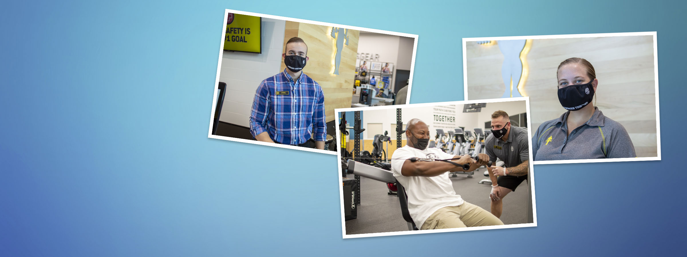 Gold's Gym Facemasks, Available Now