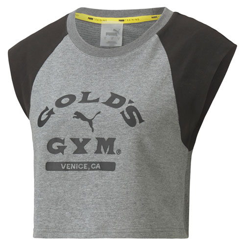 Cropped Ladies'  Gray Tee by PUMA