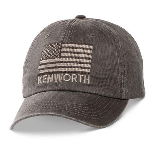 Tonal Flag Dark-Textured Oil Cloth Hat
