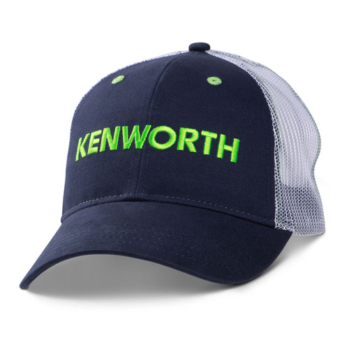 Navy & Lime Mesh-Back Structured Cap