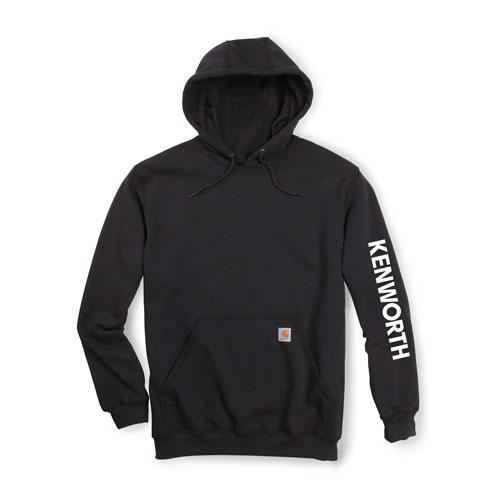 Black Carhartt® Hoodie with White Logo