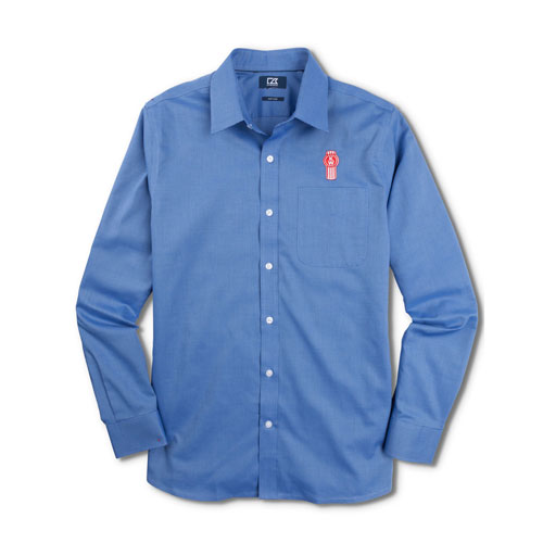 French Blue Cutter & Buck® Easy-Care Tailored Shirt