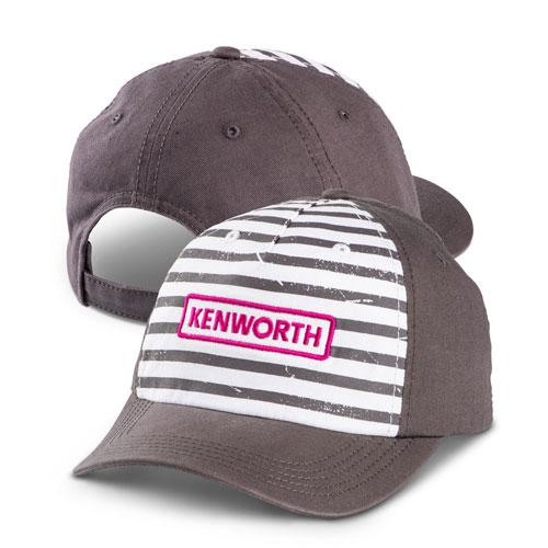 Magenta Wordmark Striped Hat