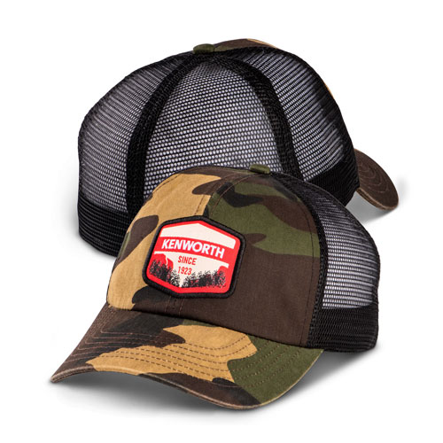 Outdoors Patch Camo Mesh Fitted Hat