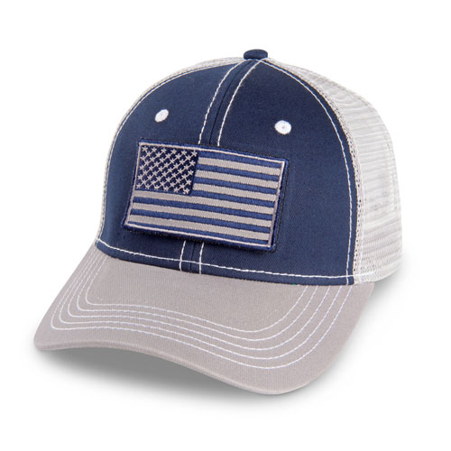 Mesh Hat with Removable Flag Patch