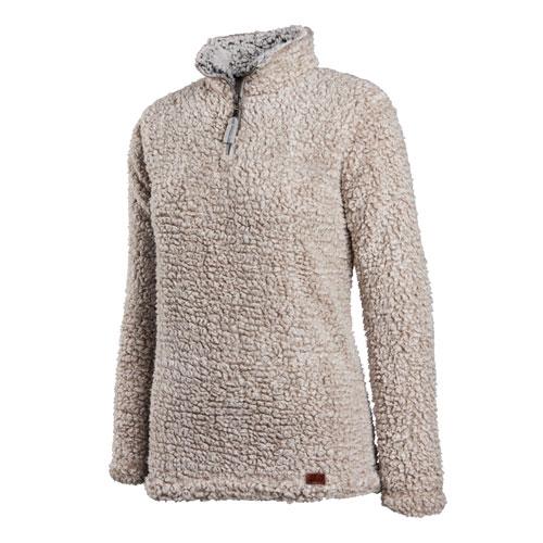 Women's Quarter Zip Sherpa  Fleece Pullover
