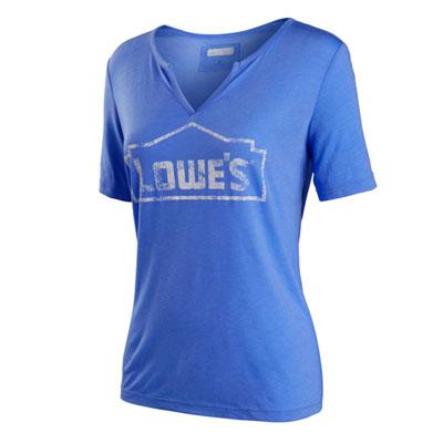 Women's  V-neck Draped T-shirt