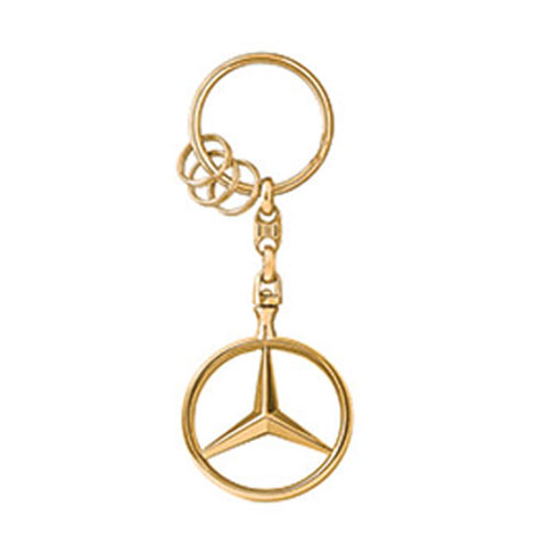 Mercedes-Benz Star Key Ring - GOLD