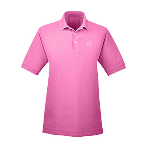 Men's Everyday Short-Sleeve Cotton Polo - DARK PINK