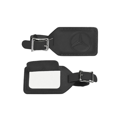 MER Leather luggage tag (AMHP600 BK) Multi-Colored