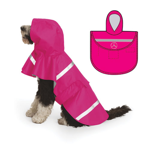 MER New Englander Doggie Rain Jacket Pink SM