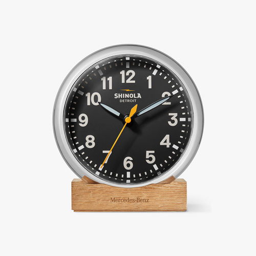 Shinola Runwell Mercedes Desk Clock