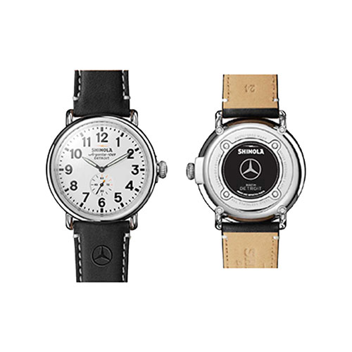 Shinola 47mm Runwell Mercedes Watch with Wood Watch Box