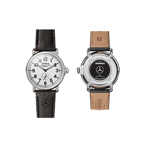 Shinola 41mm Runwell Mercedes Watch with Wood Watch Box