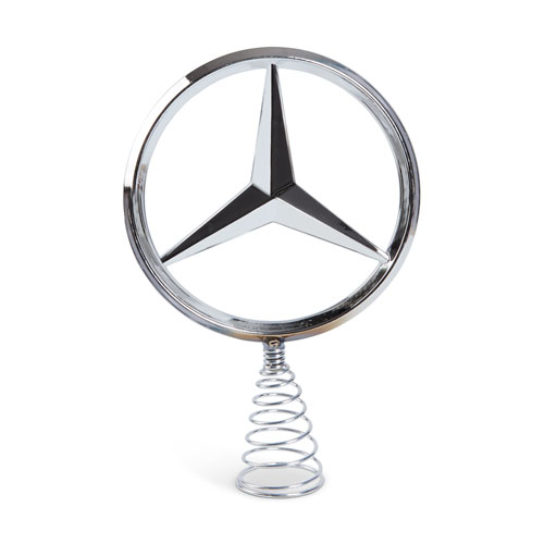 Mercedes Star Tree Topper Silver