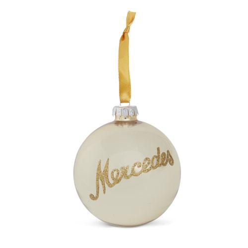 Script Glass Ornament