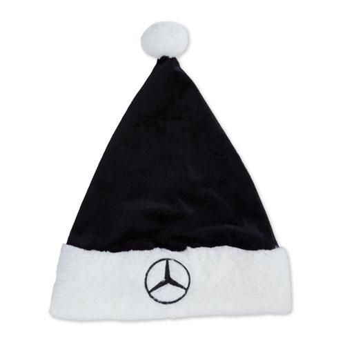Star Faux Fur Santa Hat