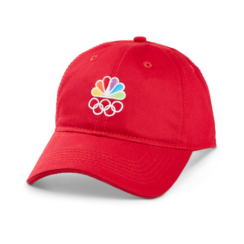 Peacock and Rings Red Signature Cap