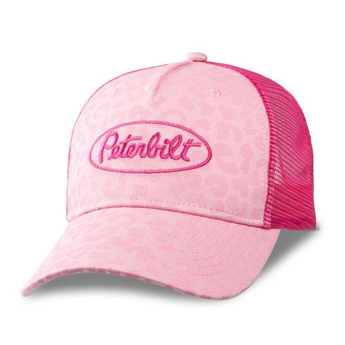 Pink Leopard Print Cap