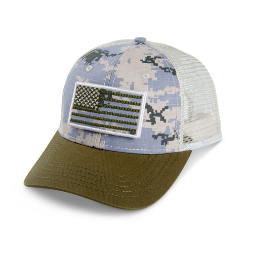 Digi-Camo Mesh Hat with Removable Flag Patch