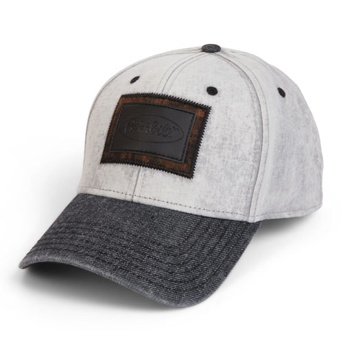 Denim Hat with Leather Strap