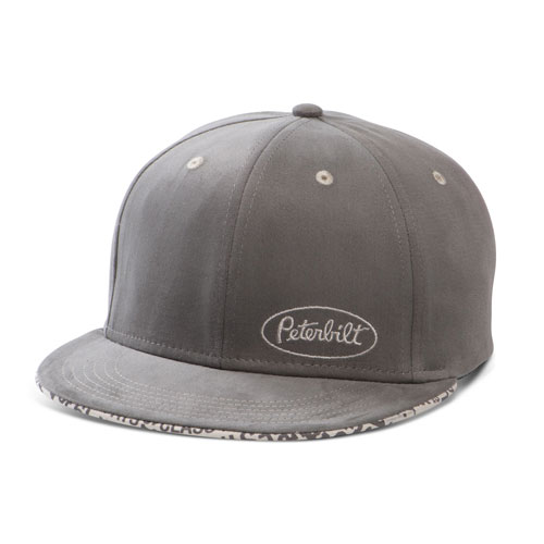 Charcoal Flat-Bill Structured Fitted Hat