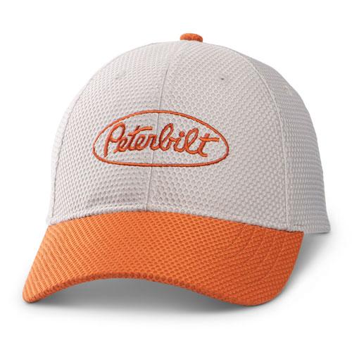 Grey and Orange Two-Tone Hat