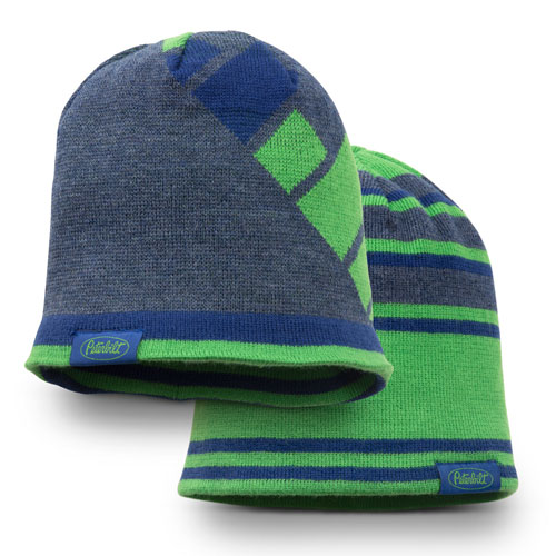 Green and Blue Abstract Reversible Beanie