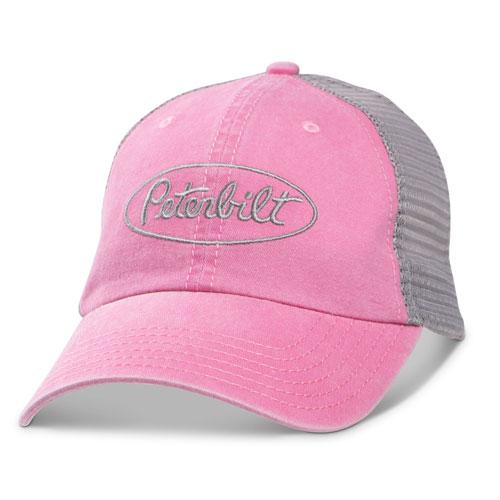 Pink Vintage-Washed Mesh Hat