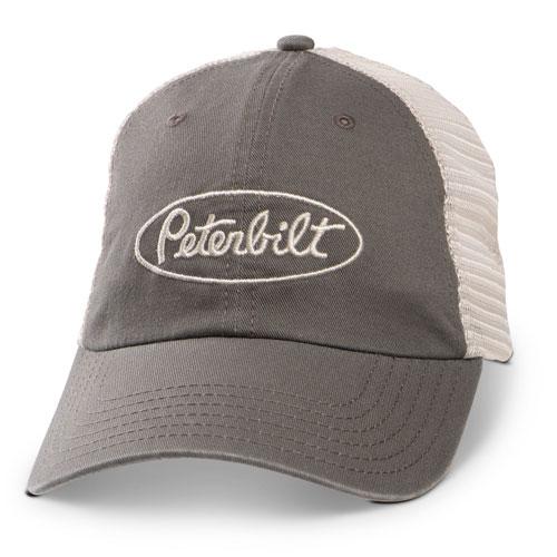 Grey Vintage-Washed Mesh-Back Hat
