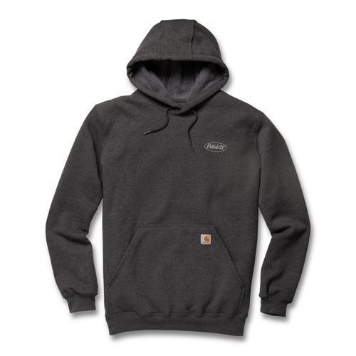 Carbon Heather Carhartt Midweight Hoodie with Gray Logo