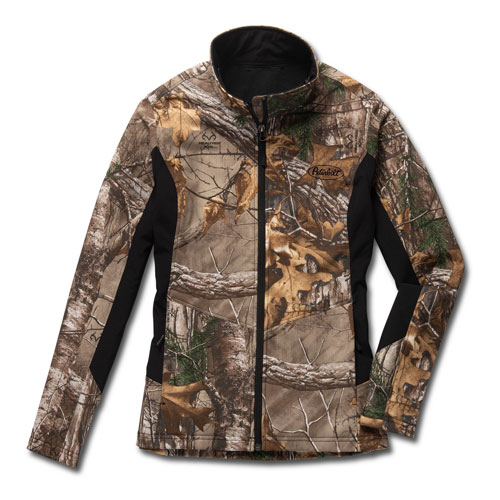 Ladies' Camo and Black Color-Block Zippered Jacket with Realtree Xtra® Pattern