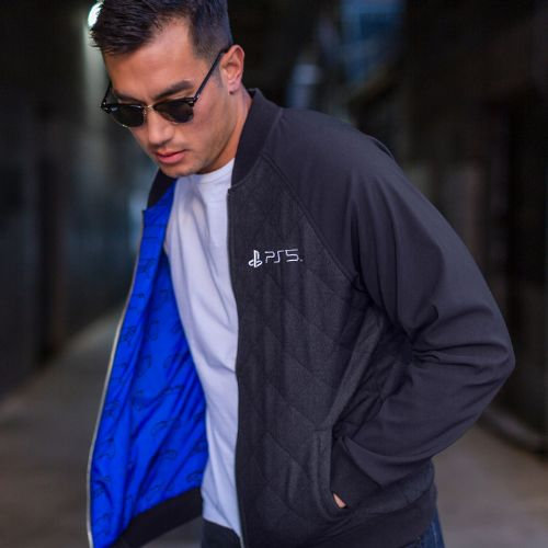 PS5™ inspired Quilted Bomber Jacket