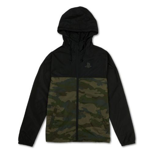 Color Block Camo Jacket