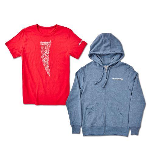 Uncharted Tshirt and Hoodie Bundle