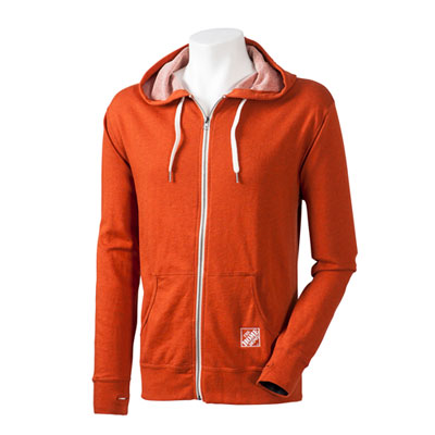 French Terry Zippered Hoodie