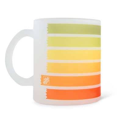 Frosted Painted Mug
