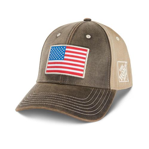 Faux-Waxy Flag Hat