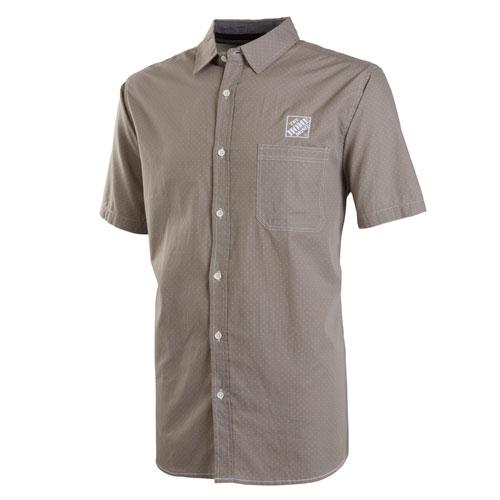 Peached Short-Sleeve Poplin Shirt