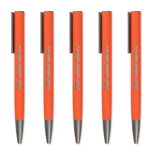 Soft-Touch Rubberized Pen (5 Pack)